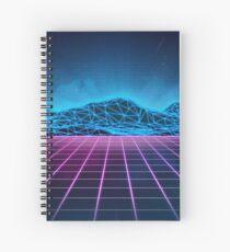 Retrowave mountain range Spiral Notebook