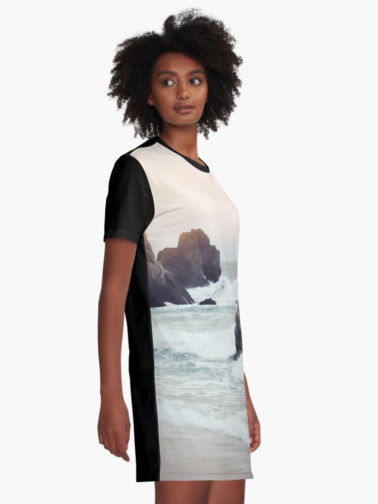 Vista alternativa de Vestido camiseta Playa de la costa oeste