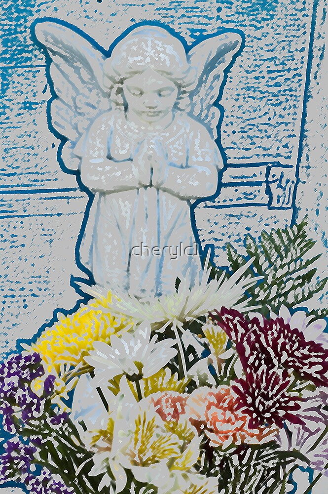 Angel of the flowers by cherylc1