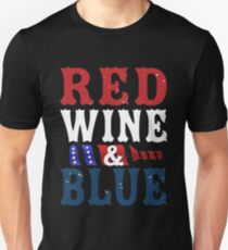 Red Wine T Shirt for 4th of July Independence Day Unisex T-Shirt