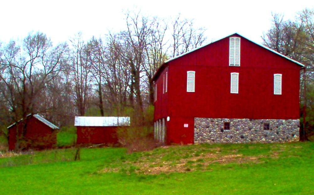Red Barn Trio by sheena2015