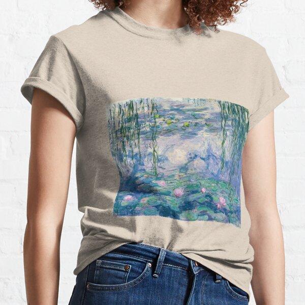 Water Lilies Claude Monet Fine Art Classic T-Shirt