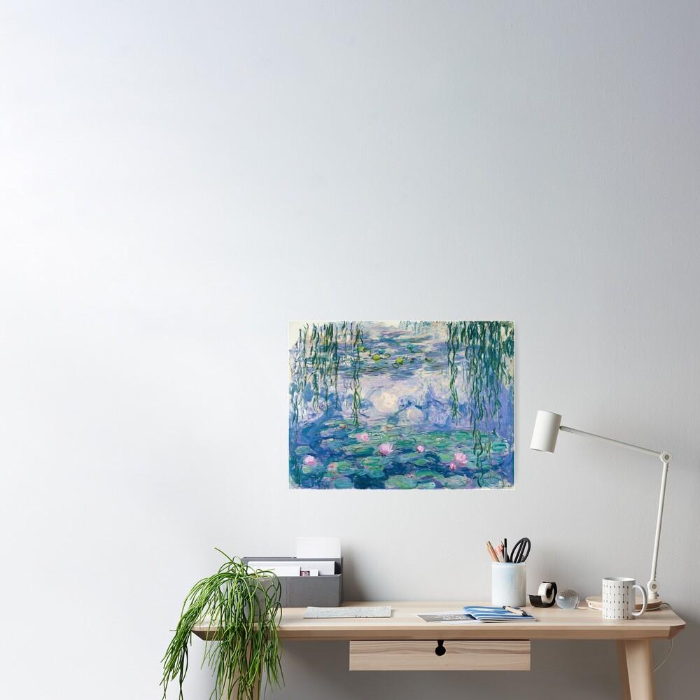 Water Lilies Claude Monet Fine Art Poster