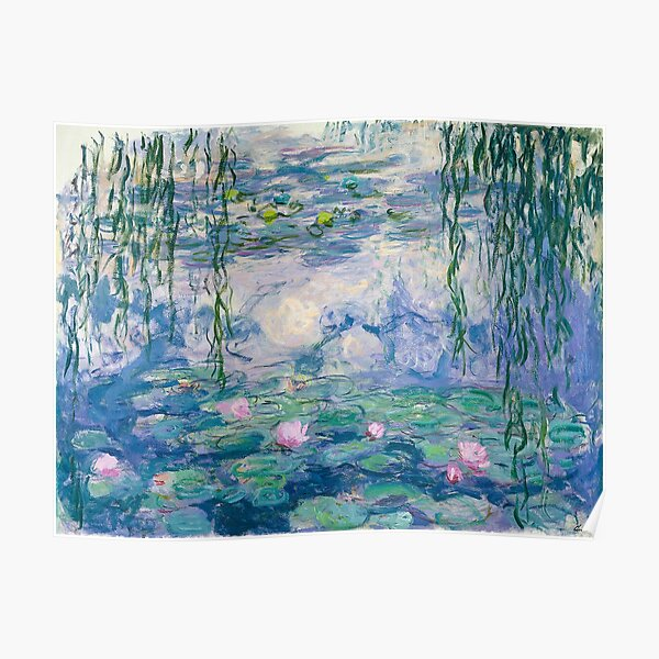 Nenúfares Claude Monet Fine Art Póster