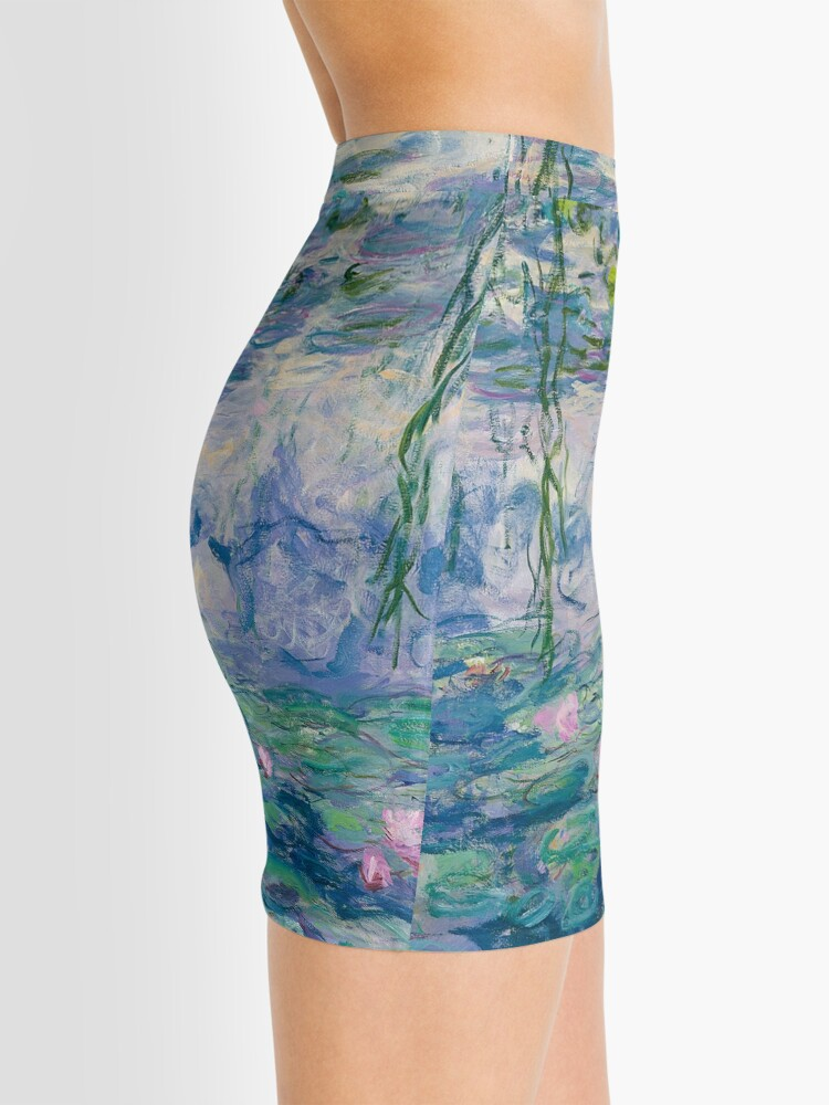 Alternate view of Water Lilies Claude Monet Fine Art Mini Skirt
