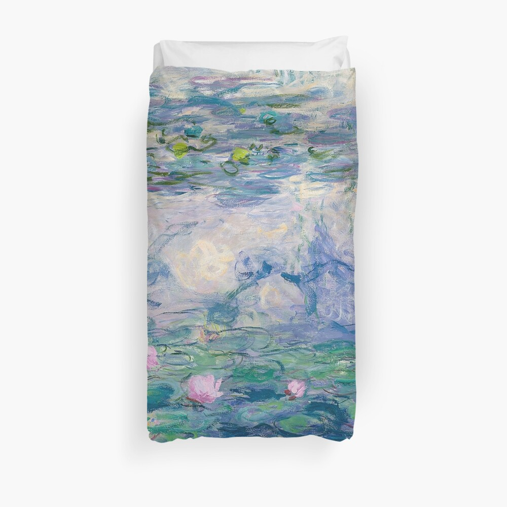 Water Lilies Claude Monet Fine Art Duvet Cover