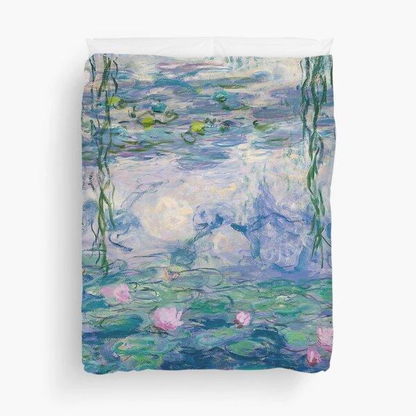 Water Lilies Claude Monet Fine Art Duvet Cover