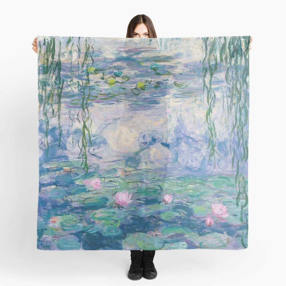 Water Lilies Claude Monet Fine Art Scarf