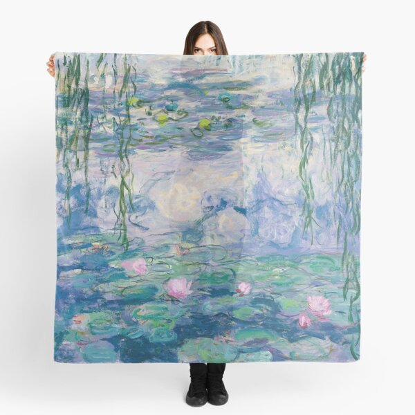 Water Lilies Claude Monet Fine Art Scarf