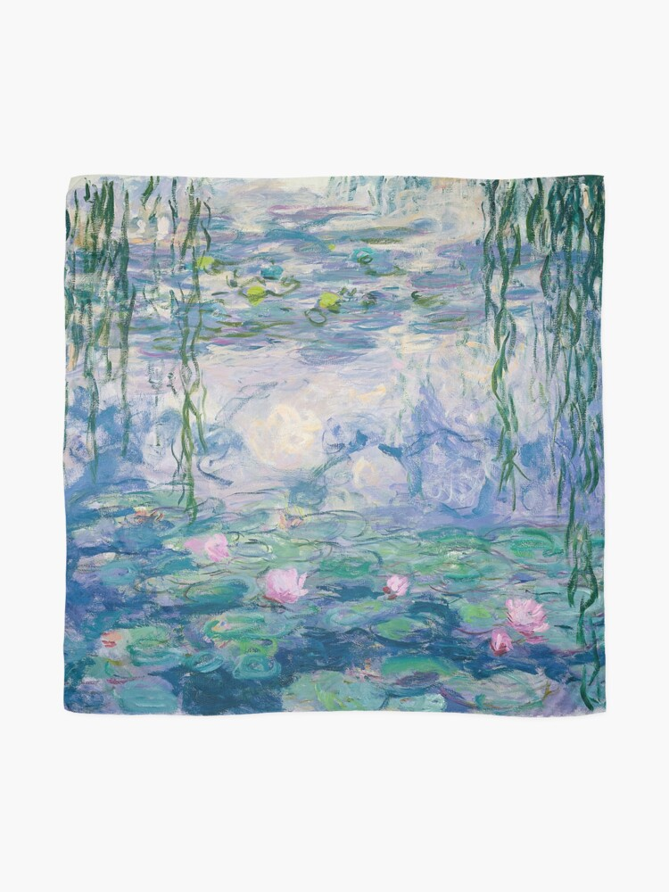 Alternate view of Water Lilies Claude Monet Fine Art Scarf