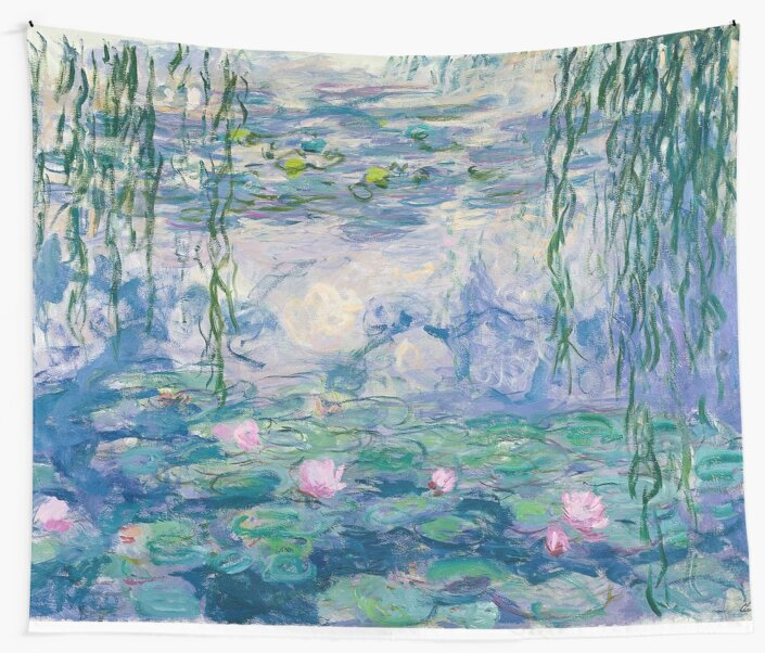 Water Lilies Claude Monet Fine Art by Vicky Brago-Mitchell