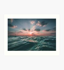 Sunset Paradise Art Print