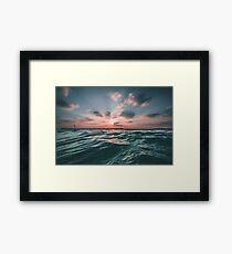 Sunset Paradise Framed Print