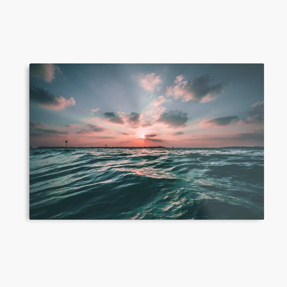 Sunset Paradise Lámina metálica