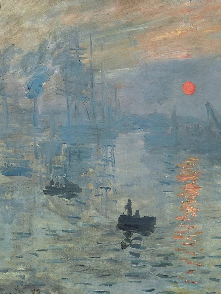Monet Impression Sunrise Fine Art by bragova