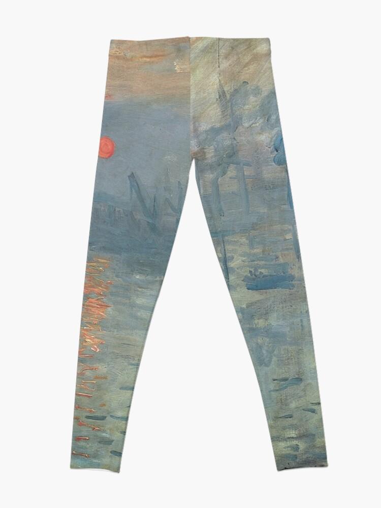 Alternate view of Monet Impression Sunrise Fine Art Leggings