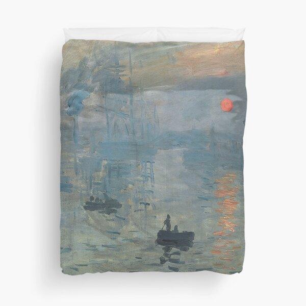 Monet Impression Sunrise Fine Art Duvet Cover