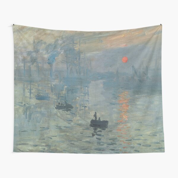 Monet Impression Sunrise Fine Art Tapestry