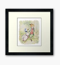 Jemima Puddleduck with the Fox Framed Print