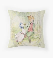 Jemima Puddleduck with the Fox Throw Pillow