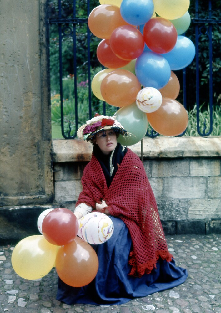 Lady with balloons by MayWebb