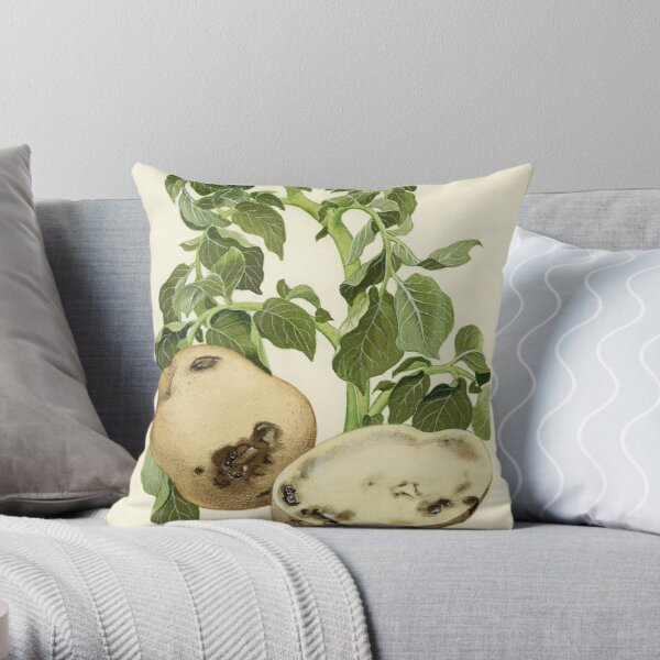 Bacterial Wilt of Potato Throw Pillow