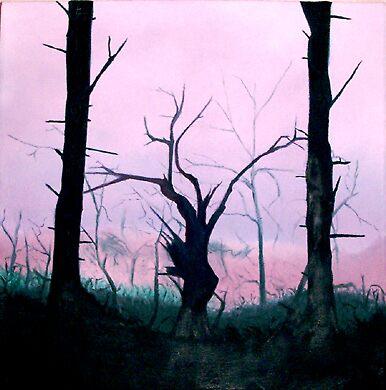 Tree in thye woods by crowfly