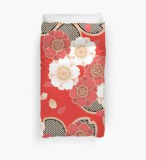 Vintage japanisches Hochzeits-Kimono-Muster Bettbezug