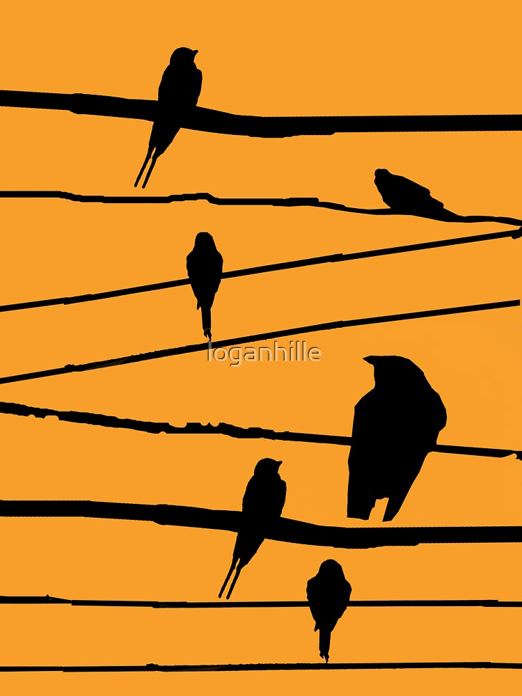 silhouette of birds by loganhille