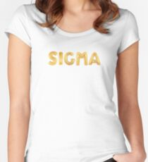 Gold Balloon Sigma Women's Fitted Scoop T-Shirt