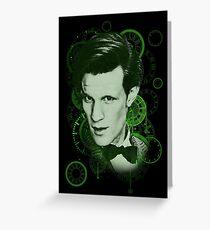 Clockface Doctor Greeting Card