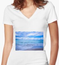 Sunrise Beach Women's Fitted V-Neck T-Shirt