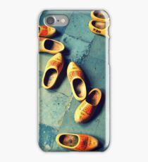 wooden slippers in Holland iPhone Case/Skin
