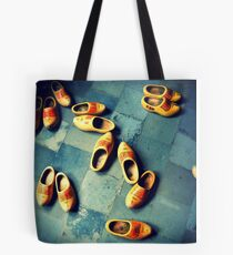 wooden slippers in Holland Tote Bag