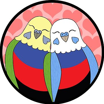 Polyarmory Pride Parakeets by Shadowfudo