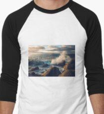 Rocky Shore Waves Men's Baseball ¾ T-Shirt