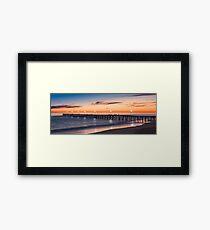 Port Noarlunga Jetty at sunset Framed Print