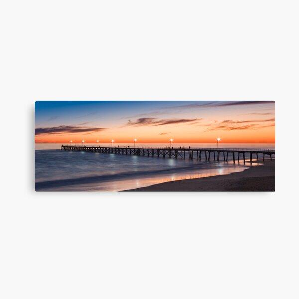 Port Noarlunga Jetty at sunset Canvas Print
