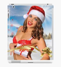 Sexy Santa's Helper girl great image for creating Holiday Greeting postcards or computer wallpapers iPad Case/Skin