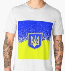 Yellow Blue Flag of Ukraine Symbol of Independence. Men's Premium T-Shirt