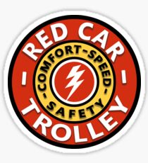 The Red Car Trolley Sticker