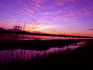 Long Jetty lake Spectacular Sunset by STEPHEN GEORGIOU PHOTOGRAPHY