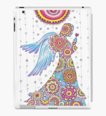 Zentangle Paisley Angel Mandala Drawing Zen Yoga Art  iPad Case/Skin