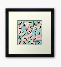 Funky Party Rainbow Colors Memphis 80's Design Pattern Framed Print