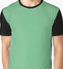 Solid Island Green Greenery Graphic T-Shirt