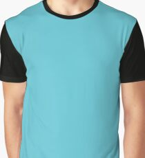 Solid Seaside Blue Tropical Sea Turquoise Graphic T-Shirt