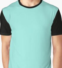 Solid Turquoise Tropical Sea Blue Green Graphic T-Shirt