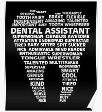 Dental Assistant Word Shirt Poster
