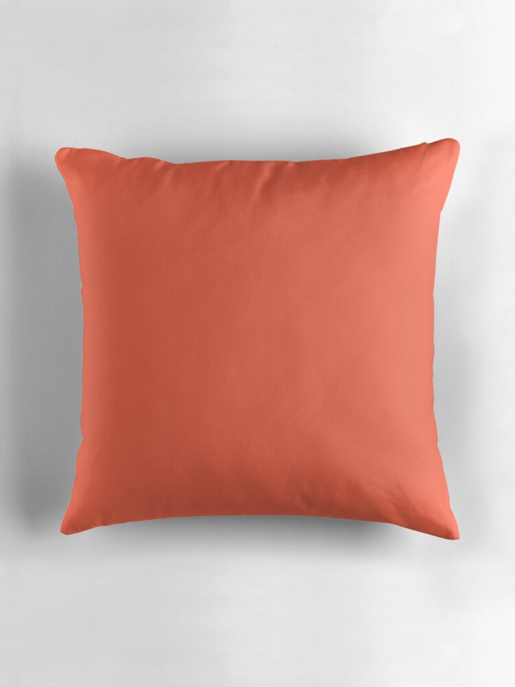 Solid Coral Throw Pillows :