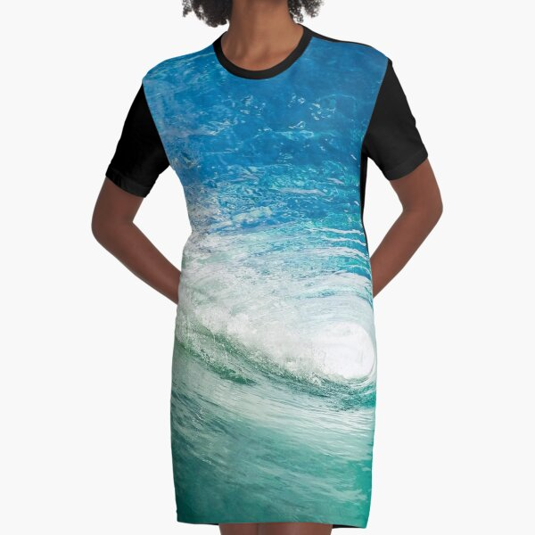 Wave Mandala - inside the barrel Graphic T-Shirt Dress